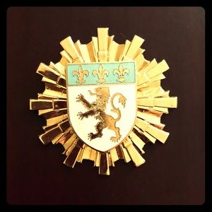 Vintage Coro Shield of Honor Brooch